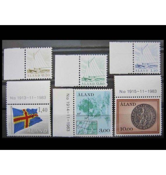 """Аландские острова 1984 г. """"Почтовые марки"""""""