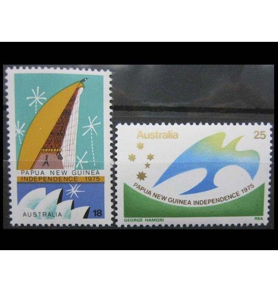 """Австралия 1975 г. """"Независимость Папуа-Новой Гвинеи"""""""