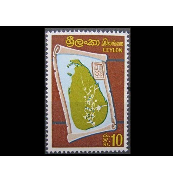 """Цейлон 1969 г. """"Карта Цейлона"""""""