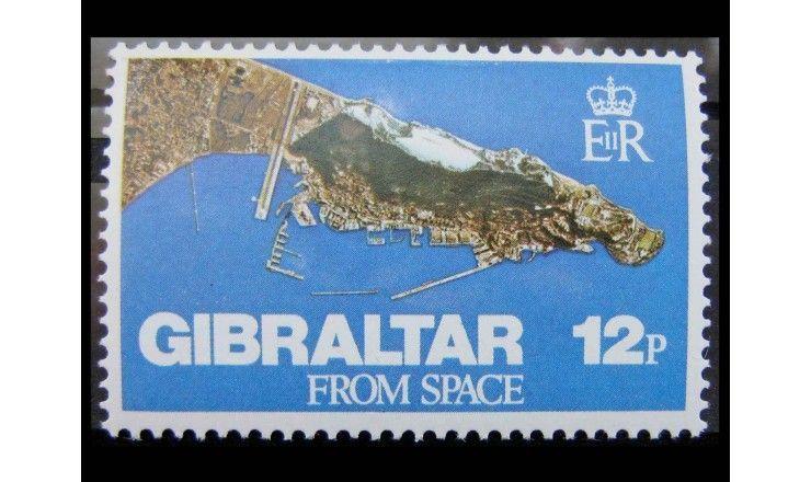 """Гибралтар 1978 г. """"Снимок Гибралтара из космоса"""""""