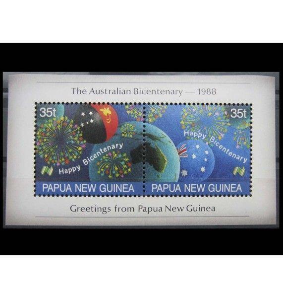 """Папуа-Новая Гвинея 1988 г. """"200 лет австралийского поселения"""""""