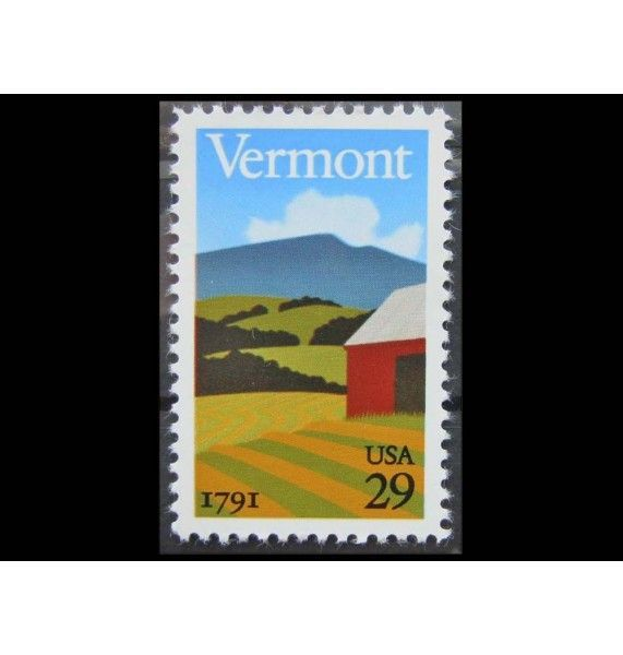 """США 1991 г. """"200-летие штата Вермонт"""""""