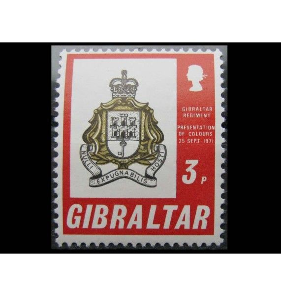 "Гибралтар 1971 г. ""Освящение флага Гибралтарского полка"""