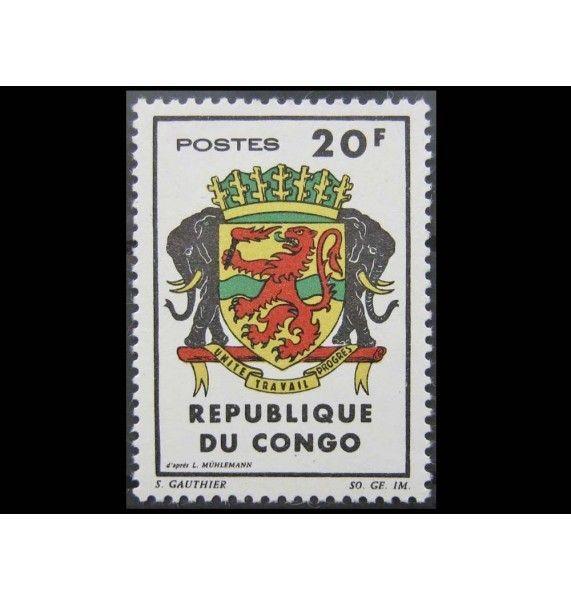 """Республика Конго 1965 г. """"Гербы"""""""