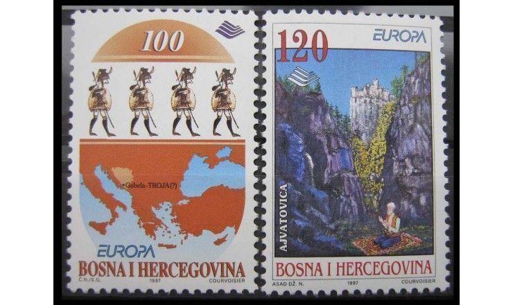 """Босния и Герцеговина 1997 г. """"Европа: Саги и легенды"""""""