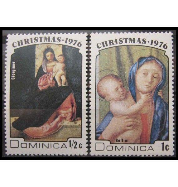 "Доминика 1976 г. ""Рождество: Мадонна, картина Ренессанса"""