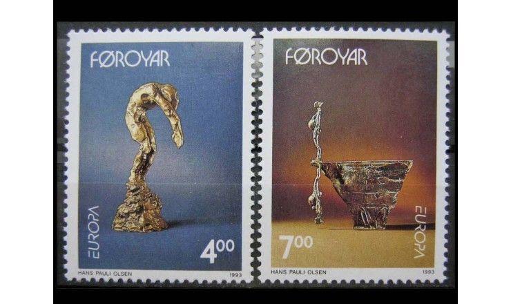 """Фарерские острова 1993 г. """"Европа: Современное искусство"""""""