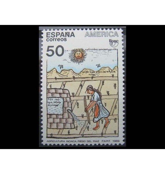 """Испания 1989 г. """"Искусство и традиции американских индейцев"""""""