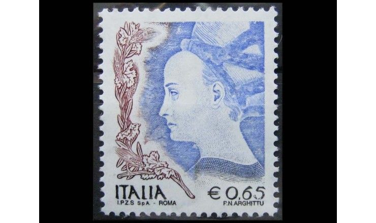 """Италия 2004 г. """"Женщина в искусстве"""""""