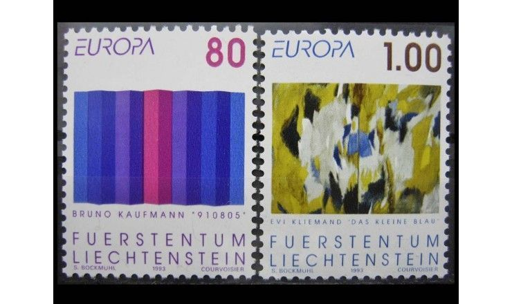 """Лихтенштейн 1993 г. """"Европа: Современное искусство"""""""