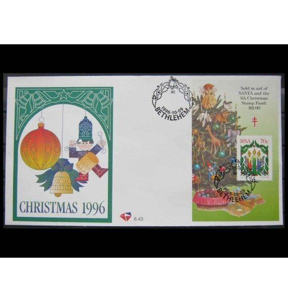 """ЮАР 1996 г. """"Рождество"""" FDC"""
