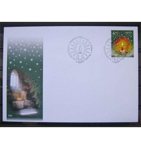 """Эстония 2004 г. """"Рождество"""" FDC"""