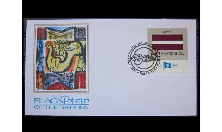 "ООН (Нью-Йорк) 1997 г. ""Гербы государств-членов ООН"" FDC"