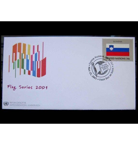 "ООН (Нью-Йорк) 2001 г. ""Гербы государств-членов ООН"" FDC"