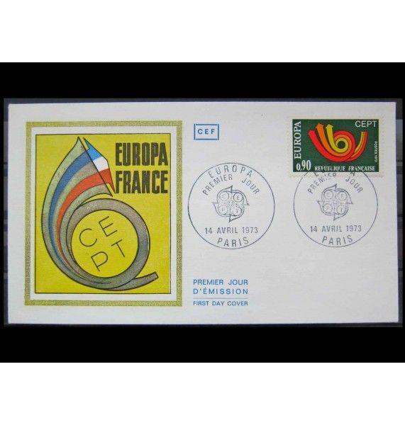 """Франция 1973 г. """"Европа"""" FDC"""