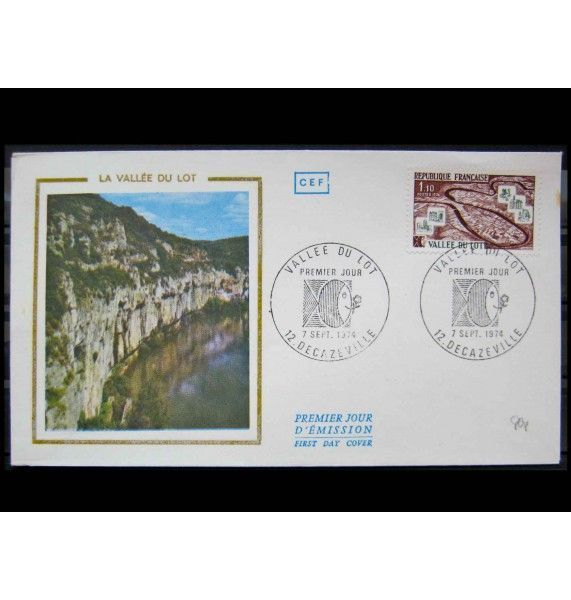 "Франция 1974 г. ""Стандартные марки: Туризм"" FDC"