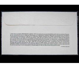 """Франция 1982 г. """"300-летие открытия Луизианы Рене-Робертом Кавелье де Ла Салем"""" FDC"""