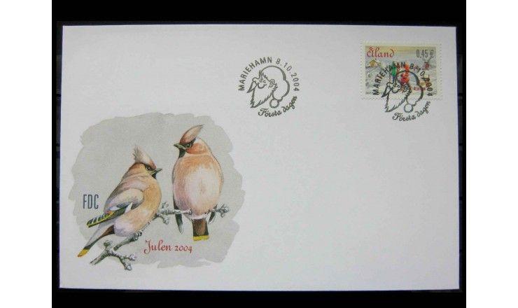 """Аландские острова 2004 г. """"Рождество"""" FDC"""