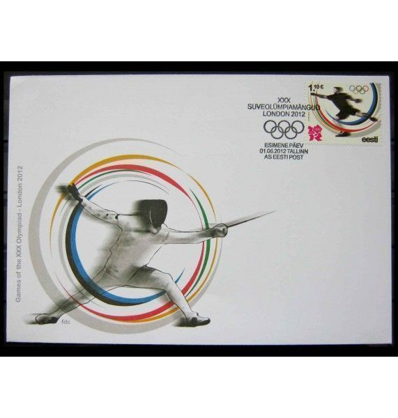 """Эстония 2012 г. """"Летние Олимпийские игры, Лондон"""" FDC"""