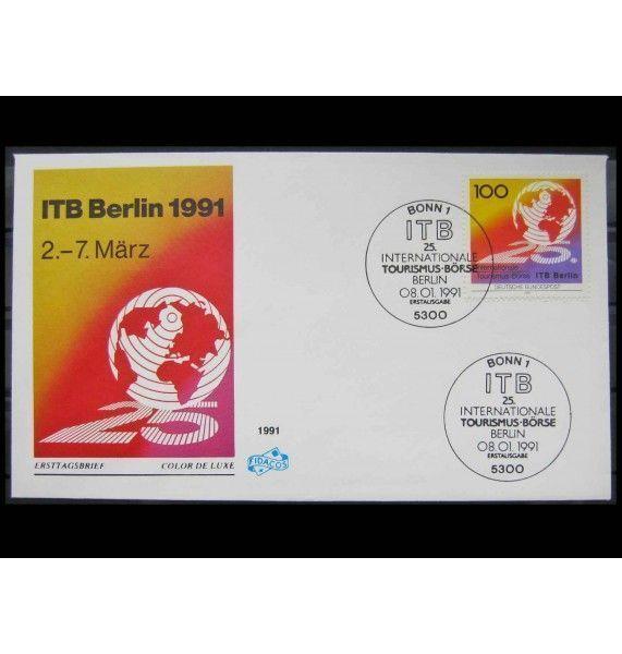 """ФРГ 1991 г. """"Международная туристская биржа (ITB), Берлин"""" FDC"""