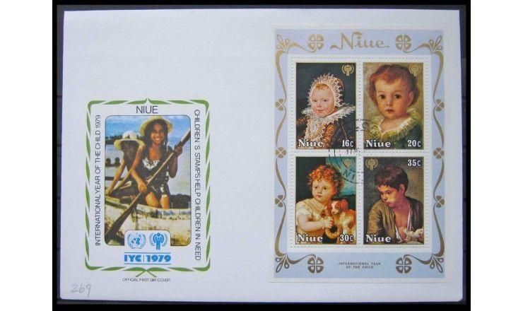 "Ниуэ 1979 г. ""Международный год ребенка: Картины"" FDC"