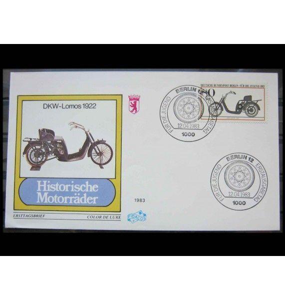 "Берлин 1983 г. ""Исторические мотоциклы"" FDC"