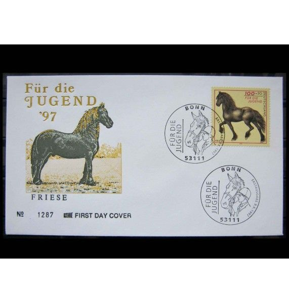 "ФРГ 1997 г. ""Породы лошадей"" FDC"
