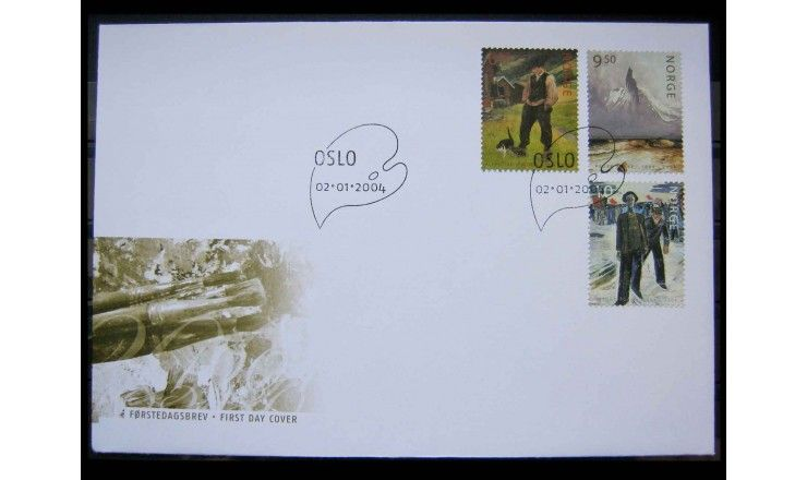 "Норвегия 2004 г. ""Картины"" FDC"