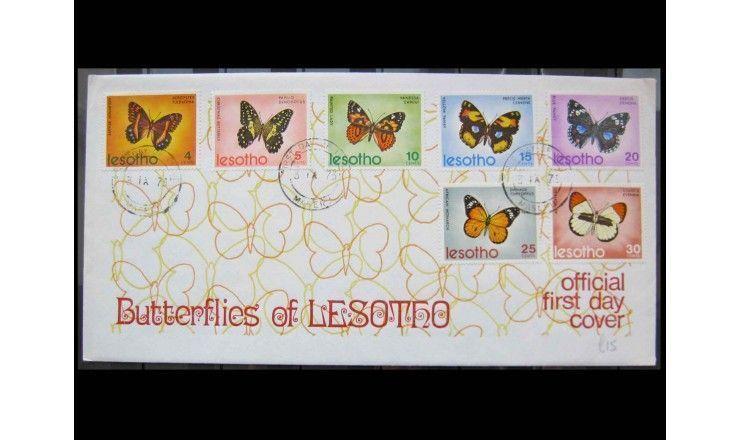 """Лесото 1973 г. """"Бабочки"""" FDC"""