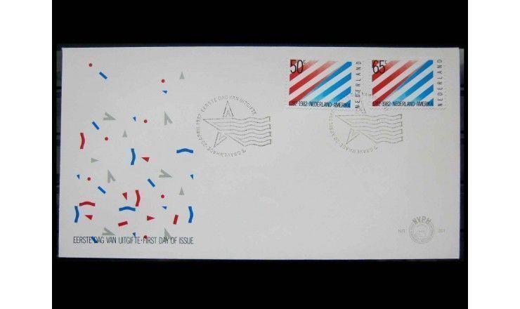 """Нидерланды 1982 г. """"200 лет дипломатическим отношениям между Нидерландами и США"""" FDC"""
