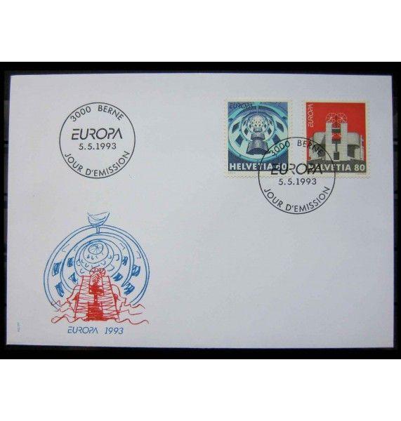 """Швейцария 1993 г. """"Европа: Современное искусство"""" FDC"""