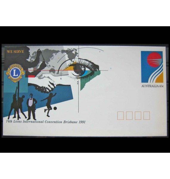 """Австралия 1991 г. """"74-я годовщина Международной конвенции Клуба Львов, Брисбен"""""""
