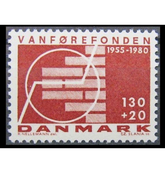 """Дания 1980 г. """"25-летие фонду помощи инвалидам"""""""