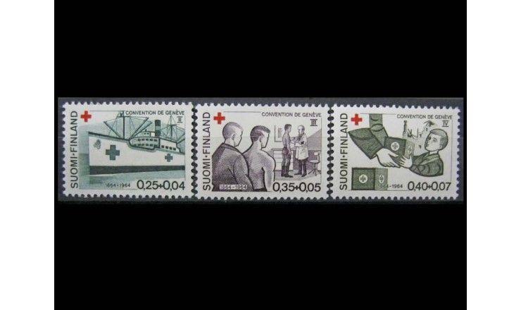 """Финляндия 1964 г. """"100 лет конференции Красного креста"""""""