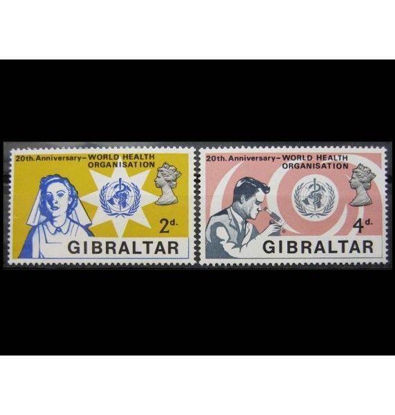 """Гибралтар 1968 г. """"20-летие ВОЗ"""""""