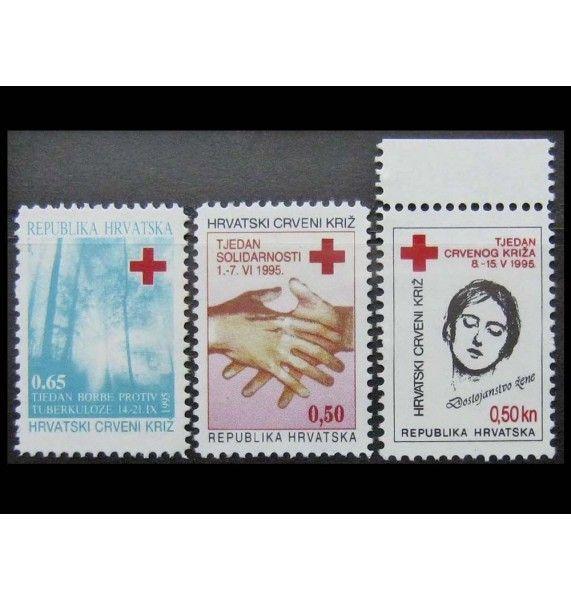 """Хорватия 1995 г. """"Красный крест"""