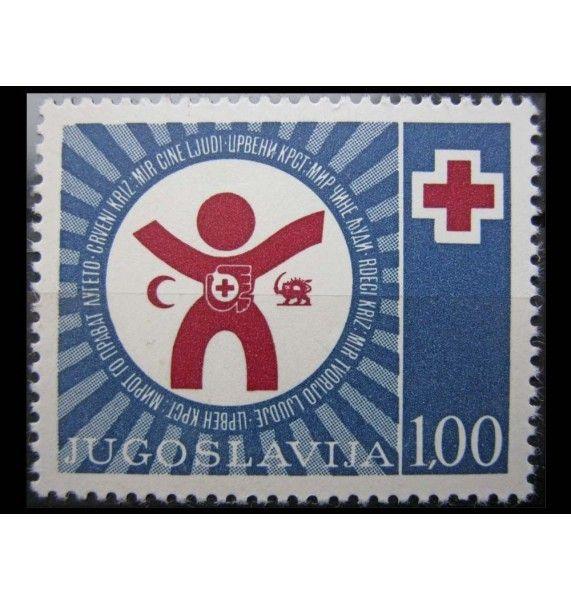"""Югославия 1977 г. """"Красный крест"""""""