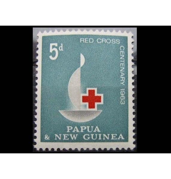 """Папуа-Новая Гвинея 1963 г. """"100-летие Красного Креста"""""""