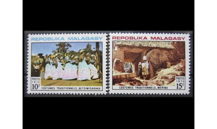 """Мадагаскар 1972 г. """"Национальные костюмы"""""""