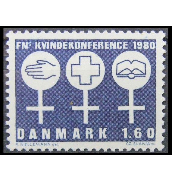 """Дания 1980 г. """"10-летие ООН-Женщины"""""""