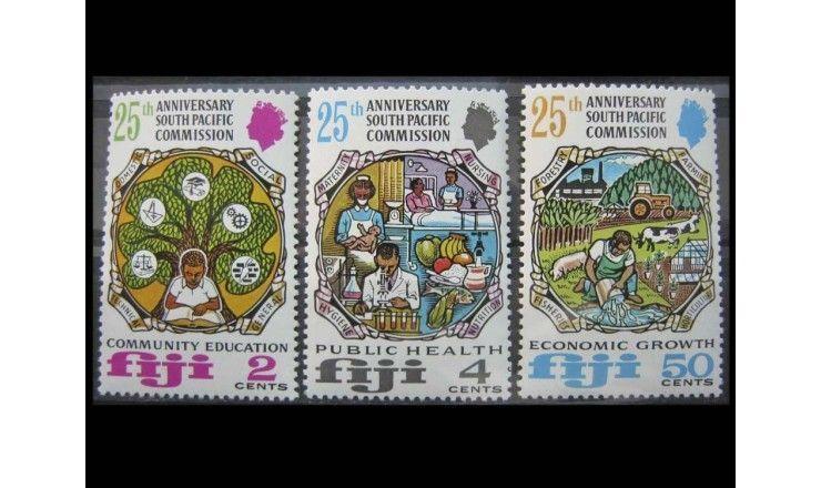 """Фиджи 1972 г. """"25-летие Южно-тихоокеанской комиссии"""""""