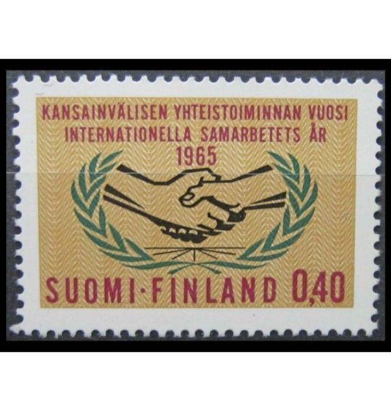 """Финляндия 1965 г. """"Год международного сотрудничества"""""""