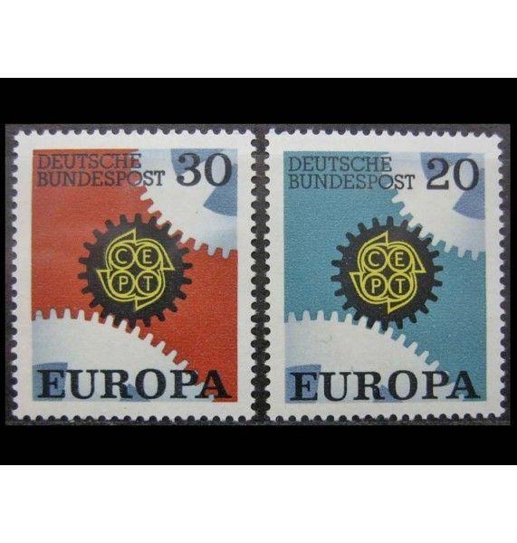 """ФРГ 1967 г. """"Европа C.E.P.T."""""""
