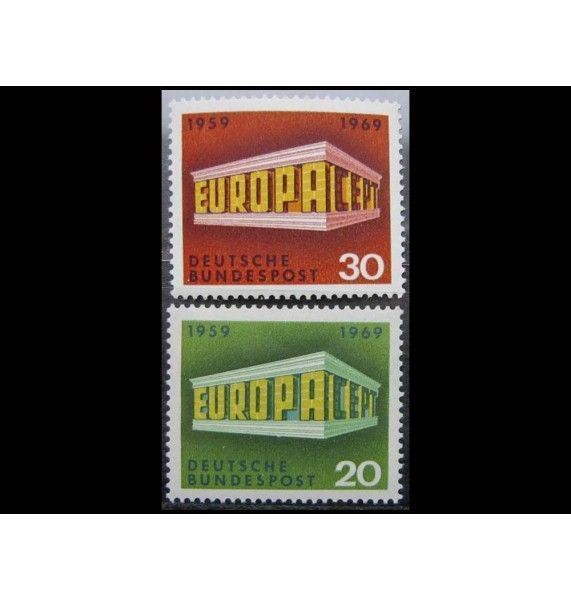 """ФРГ 1969 г. """"Европа C.E.P.T."""""""