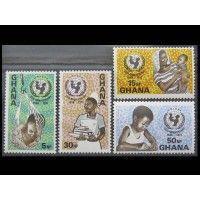 """Гана 1971 г. """"25 лет Международному детскому фонду ЮНИСЕФ"""""""