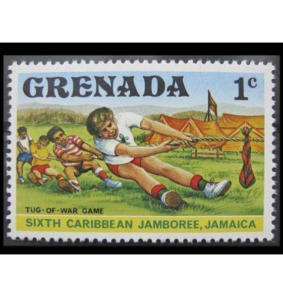 """Гренада 1977 г. """"Карибская встреча скаутов, Ямайка"""""""