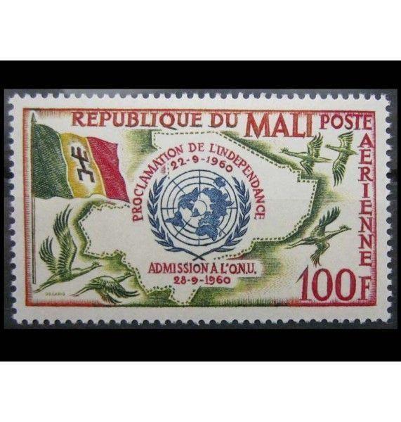 """Мали 1961 г. """"Вступление в ООН"""""""