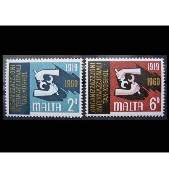 """Мальта 1969 г. """"50-летие Международной организации труда"""""""