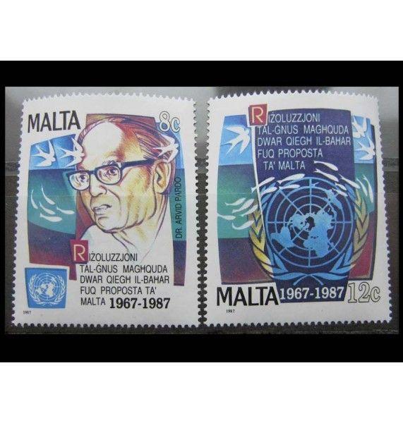 """Мальта 1987 г. """"20-летие резолюции ООН"""""""