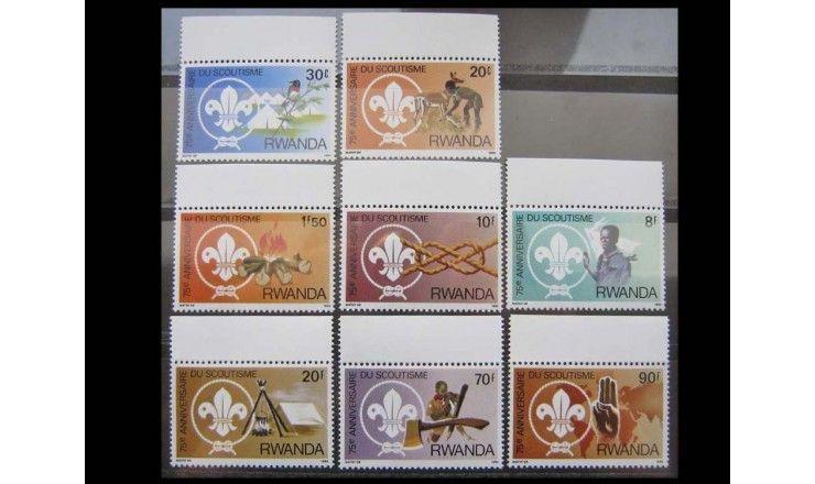 """Руанда 1983 г. """"75-летие скаутского движения"""""""